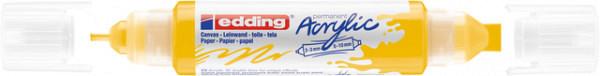 Acrylmarker edding e-5400 3D double liner verkeersgeel