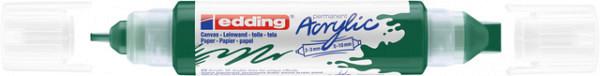 Acrylmarker edding e-5400 3D double liner mosgroen