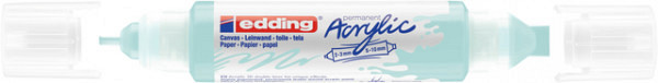 Acrylmarker edding e-5400 3D double liner pastel blauw