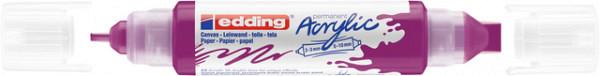 Acrylmarker edding e-5400 3D double liner bessenrood