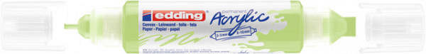 Acrylmarker edding e-5400 3D double liner pastel groen