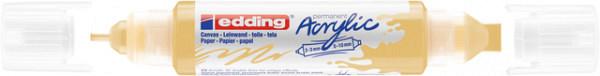 Acrylmarker edding e-5400 3D double liner pastel geel