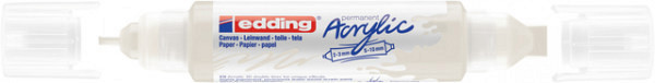 Acrylmarker edding e-5400 3D double liner verkeerswit