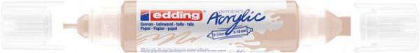 Acrylmarker edding e-5400 3D double liner warm beige