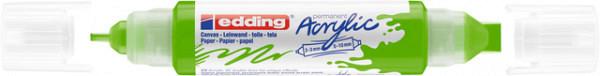 Acrylmarker edding e-5400 3D double liner geelgroen