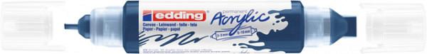 Acrylmarker edding e-5400 3D double liner elegant nachtblauw
