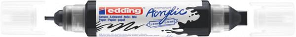 Acrylmarker edding e-5400 3D double liner zwart