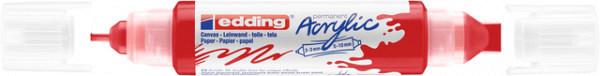 Acrylmarker edding e-5400 3D double liner verkeersrood