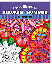 Kleurboek Interstat kleuren op nummer Flower Mandala's