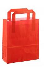 Papieren tas 18x08x22cm 50st rood
