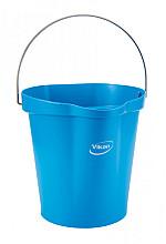 Emmer Vikan met schenktuit en maat 12l blauw