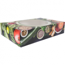 Partydoos/ cateringdoos Green Dish  45x32x8cm 10 stuks