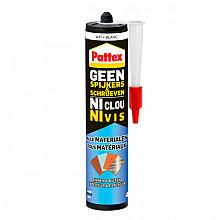 Kit Pattex Geen Spijkers & Schroeven voor binnen & buiten 390gram wit