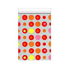 Cadeauzakjes 12x19cm 250 stuks dots gekleurd des 3014