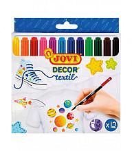 Textielstiften Jovi set à 12 kleuren