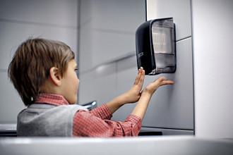 Dispenser Katrin 92186 zeepdispenser 500ml zwart