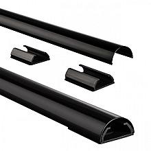 Kabelkanaal Hama halfrond 110/3,3/1,8 cm aluminium zwart