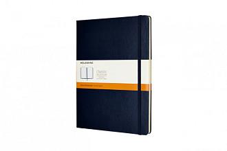 Notitieboek Moleskine XL 190x250mm lijn sapphire blue