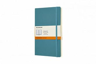 Notitieboek Moleskine L 130x210mm lijn reef blue