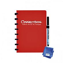 Notitieboek Correctbook A5 lijn 40blz horizon red