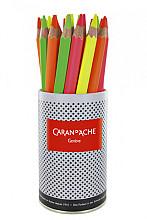 Kleurpotloden Caran d' Ache  Maxi Fluo pot à 28 stuks assorti