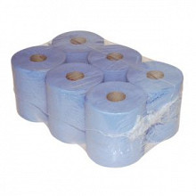 Poetspapier blauw midi 20cmx300mtr 1-laags 6 stuks
