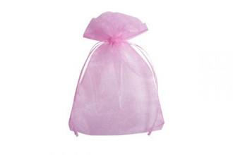 Organza zakjes 7,5x10cm roze 50 stuks