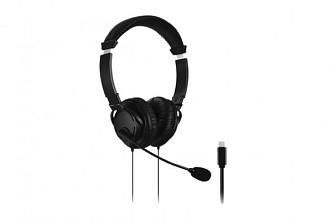 Hoofdtelefoon Kensington USB-C Hi-Fi met microfoon zwart