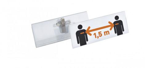 Badge Durable XL met combiklem 40x105mm set à 14stuks