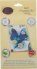 Diamondpainting Crystal Art Kaart Blauwe vlinder 10x15cm
