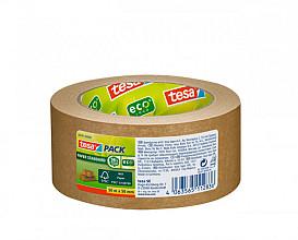 Verpakkingstape Tesa 58291 eco papier FSC 50mmx50m bruin
