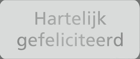 Etiket / Sticker Hartelijk gefeliciteerd zilver 500 stuks