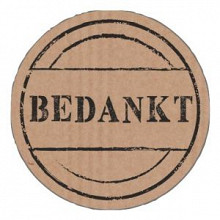 Etiket / Sticker  kraft Bedankt 500 stuks