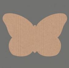 Etiket / Sticker  kraft vlinder 500 stuks