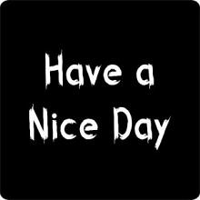 Etiket / Sticker schoolbord: Have a Nice Day 500 stuks