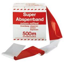 ( Corona ) Afzetlint in dispencer 500 meter  rood/wit