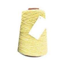Cotton Cord Twist/ Katoen touw 500 meter geel/wit ø2mm