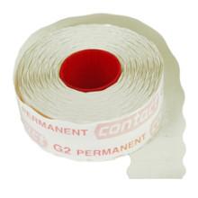 Prijsrol contact permanent 26x12mm g2 1500st wit