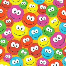 Cadeaupapier 50cm dessin 444 Luxe Smiley