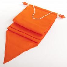 Wimpel stof oranje 17x155cm