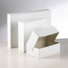 Gebaksdoos blanco/wit 20x14x8cm 300 stuks