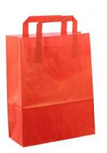Papieren tas 22x10x28cm 50st rood