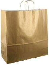Papieren koordtas 45x17x47cm 50st goud