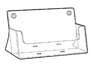 Folderhouder acryl A4 landscape