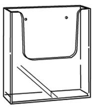 Folderhouder acryl wand A4