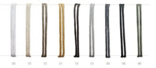 Cotton wax cord ø1,5mm x 200 meter zwart