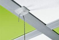 Systeemplafondklem met oog kunststof smal 100 stuks