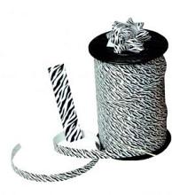 Krullint dieren: zebra print 10mm x 250 meter