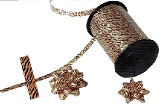 Krullint dieren: tijger print 10mm x 250 meter