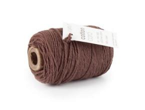 Cotton Cord / Katoen touw 50 meter bruin ø2mm
